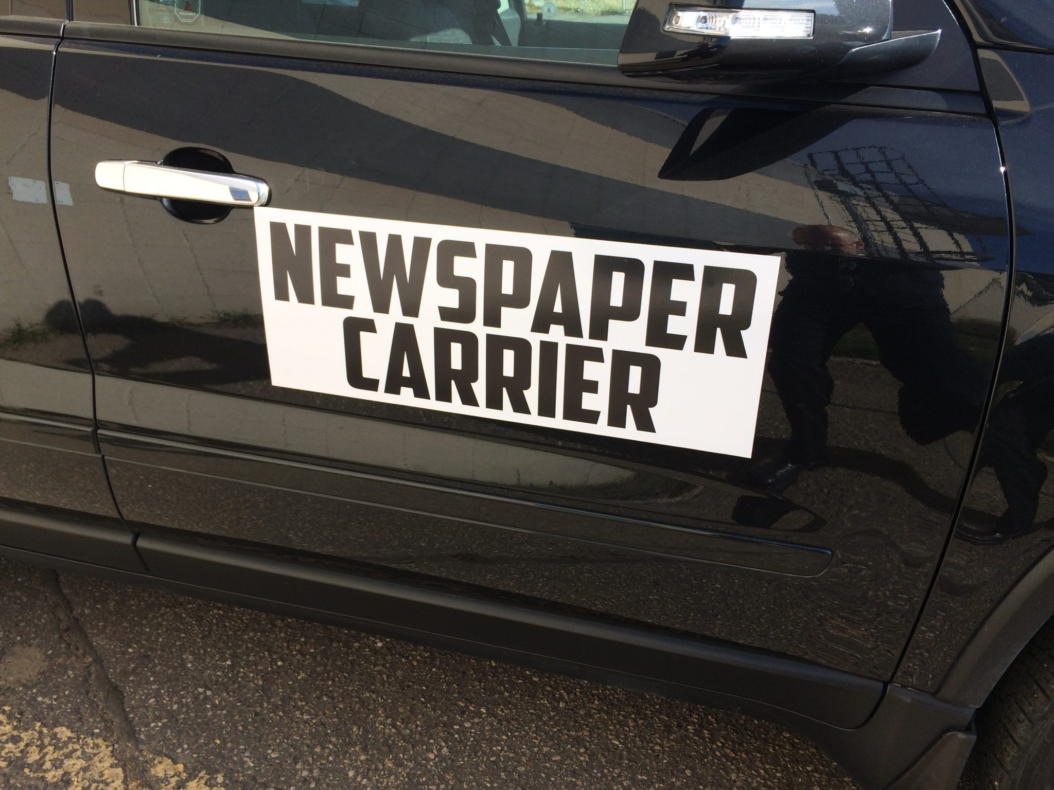 Newspaper Carrier Car Wraps in Edmonton, AB