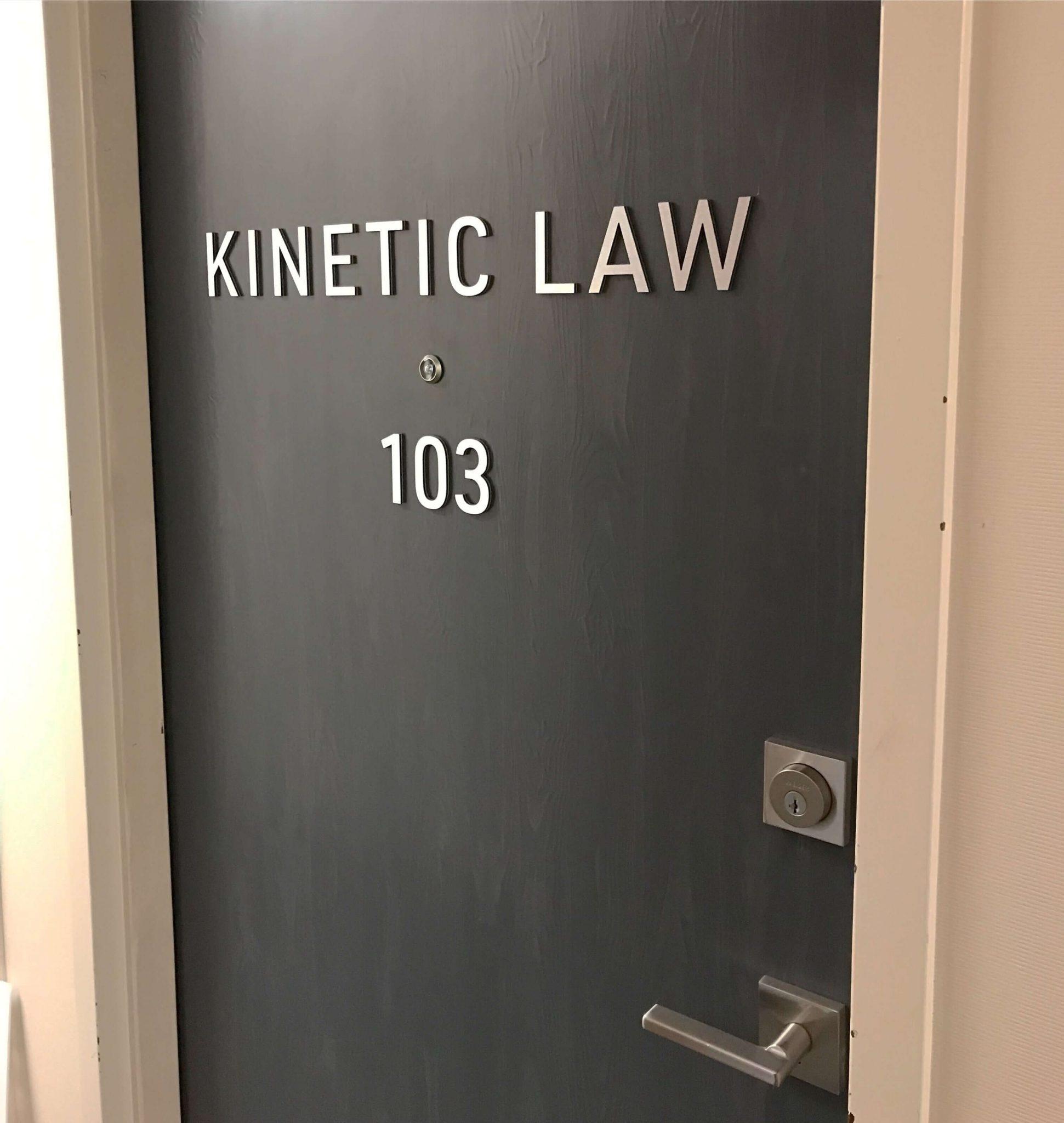 Custom Metal Door Office Signs in Edmonton, AB