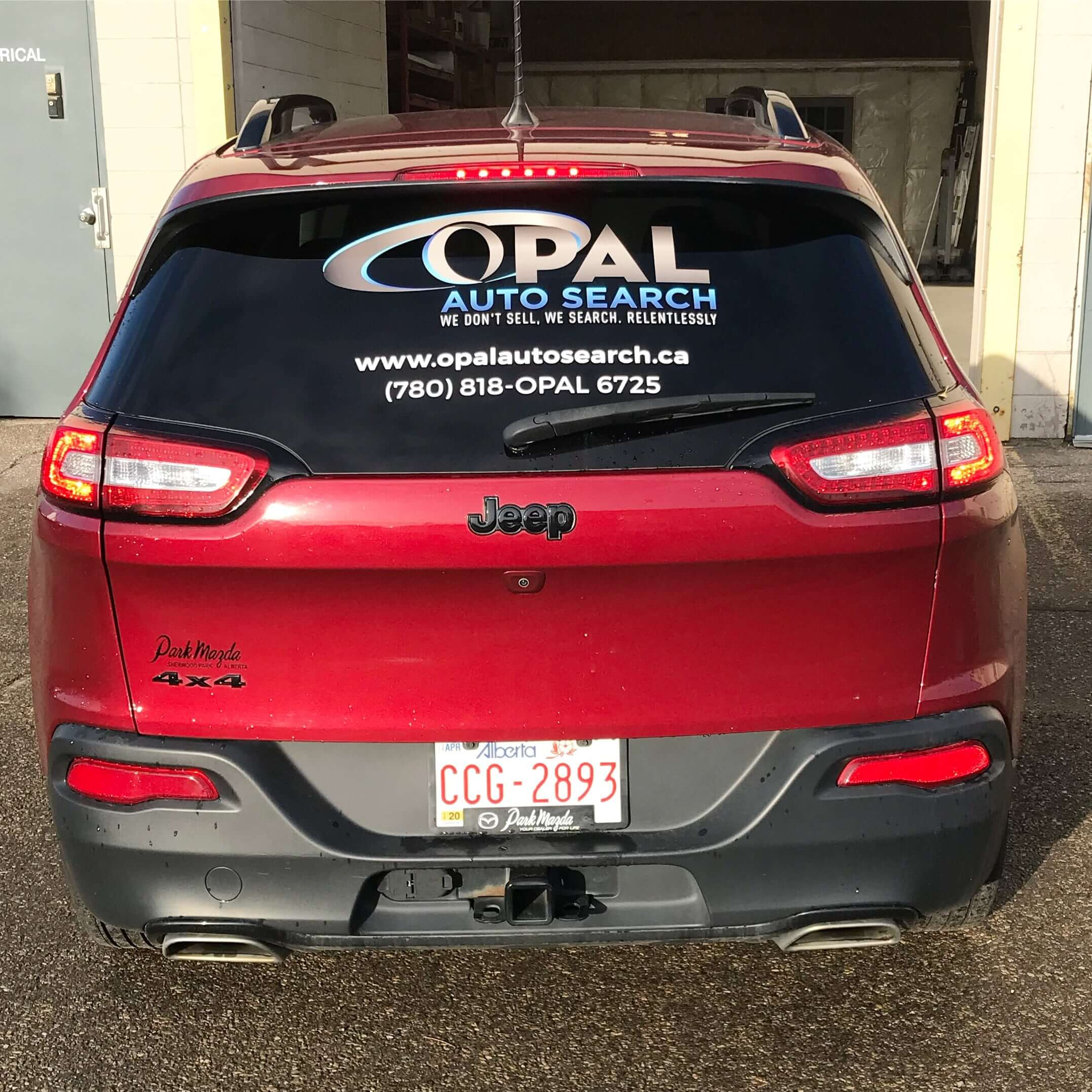 OPAL Auto Search car wraps by 3Sixty Sign Solutions in Edmonton, AB