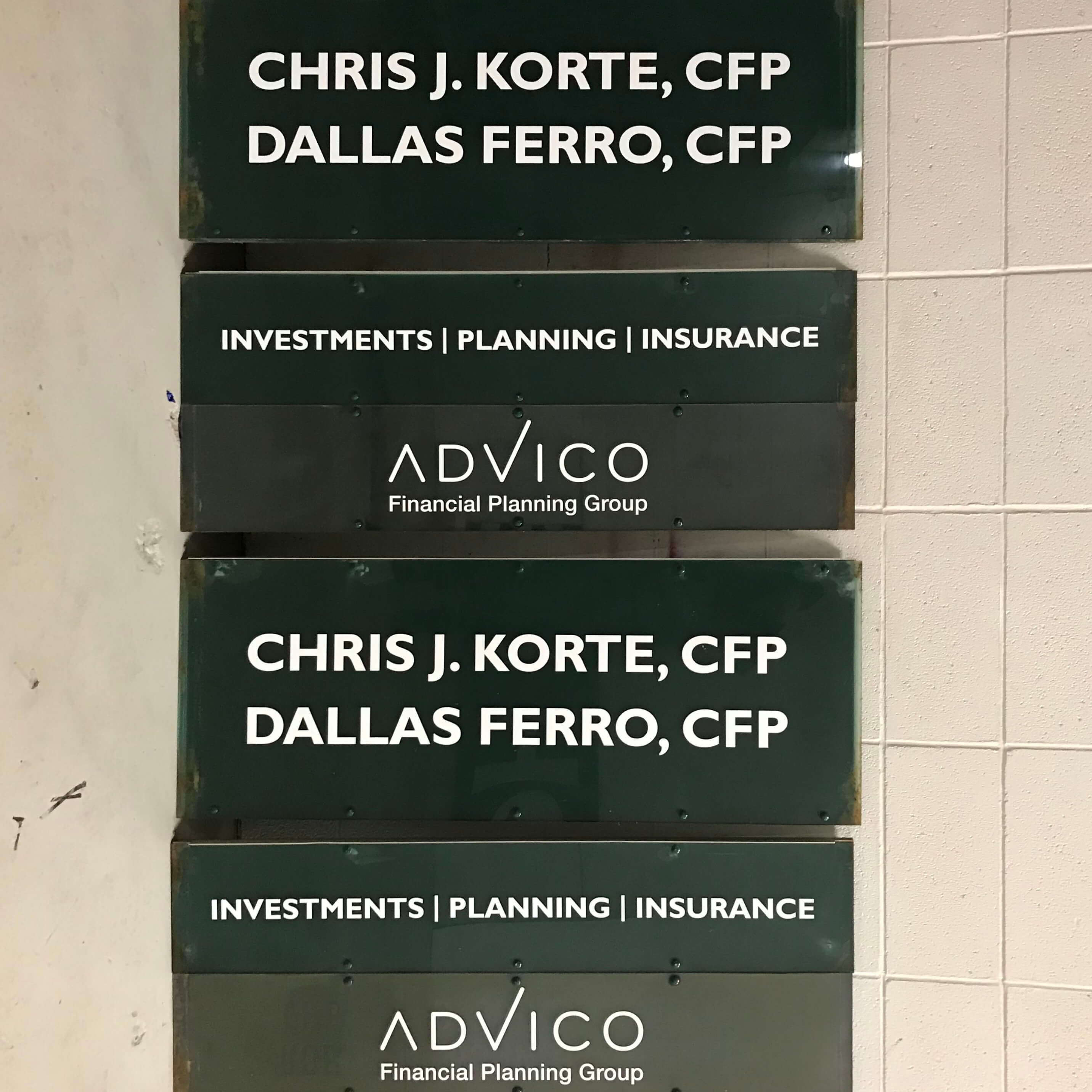 Outdoor Metal Signs for Advico in Edmonton, AB
