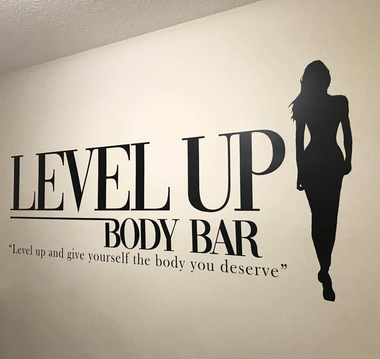 Level Up Body Bar Custom Decals in Edmonton, AB