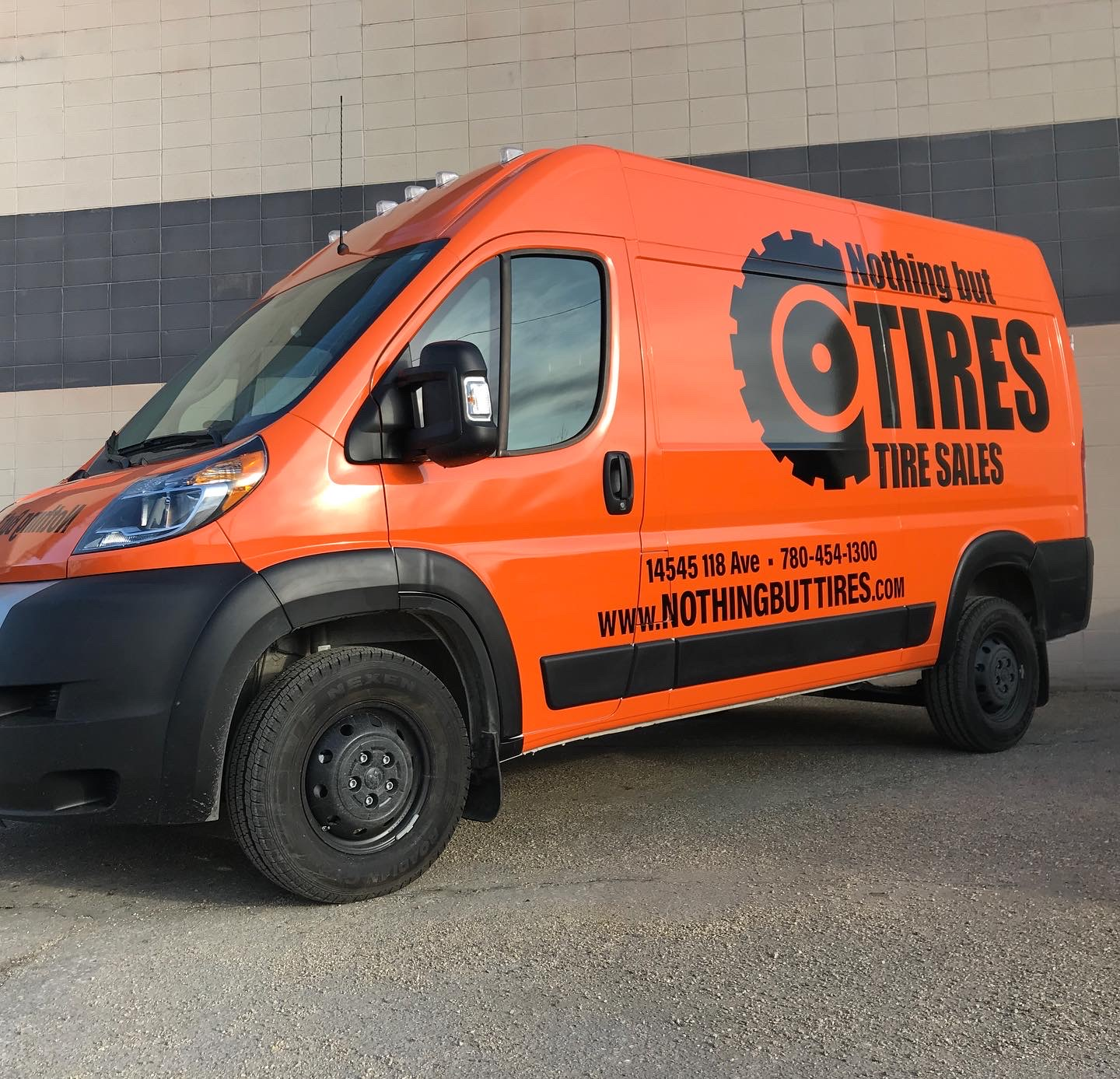 Commercial vehicle wraps and graphics for NBT in Edmonton, Alberta