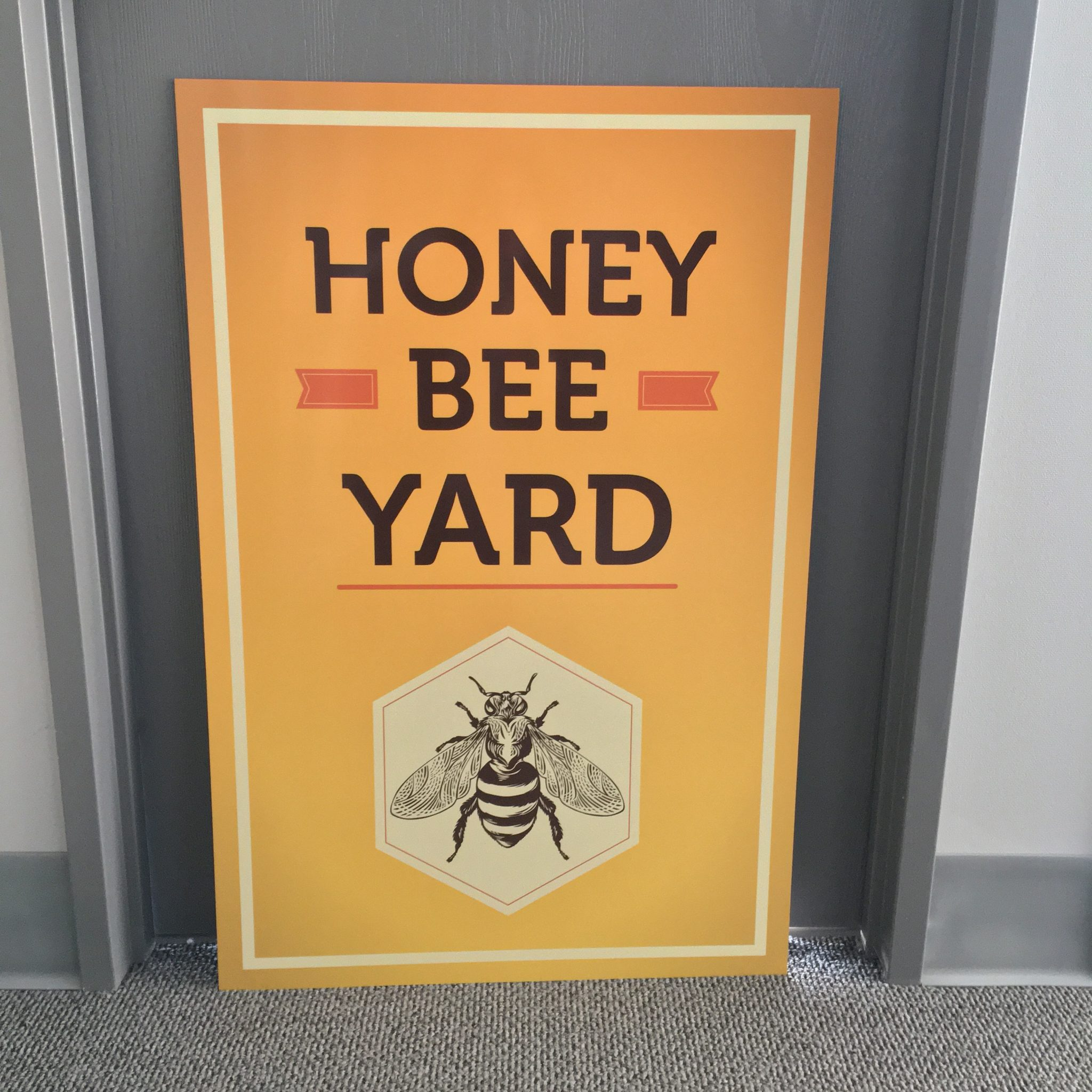 Exterior Sign Honey Bee Yard