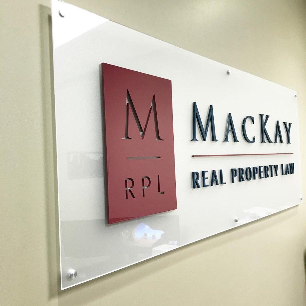 Interior Sign Mackay Law