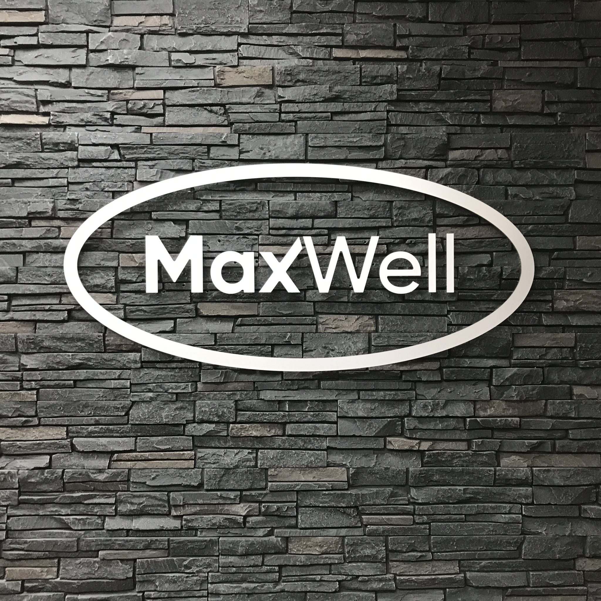 MaxWell Metal Letters for Office Lobby in Edmonton, AB