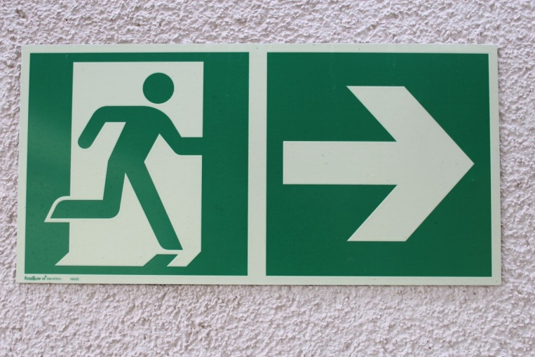 interior directional signage