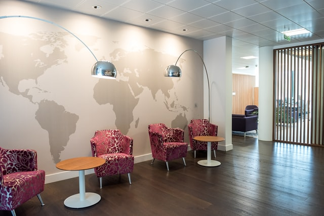 Corporate office wall graphics