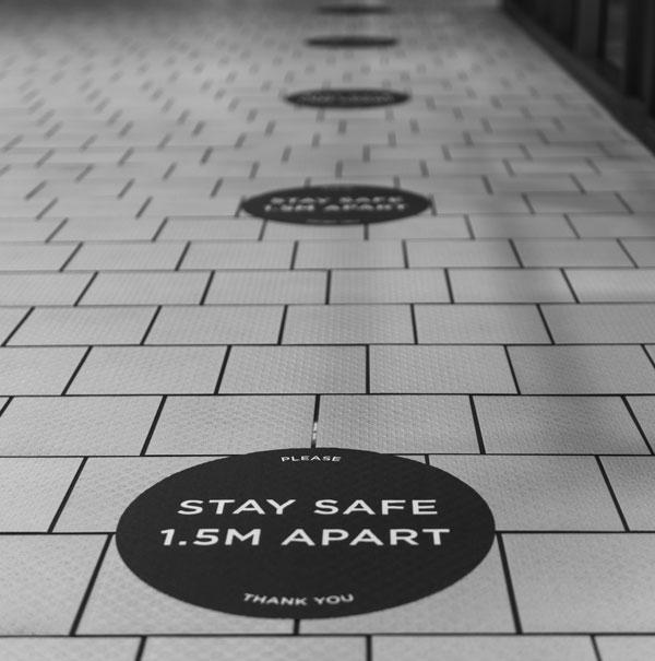 Custom Printed Social Distancing Floor Signs