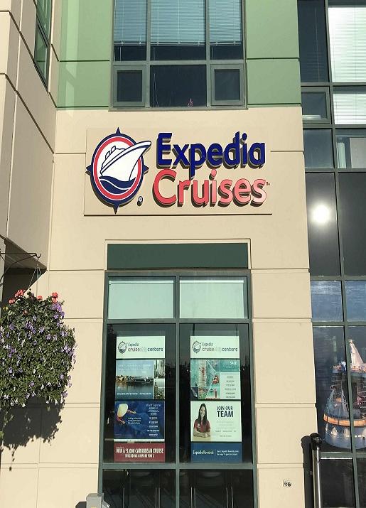Expedia Cruises Exterior Building Signs in Edmonton, AB
