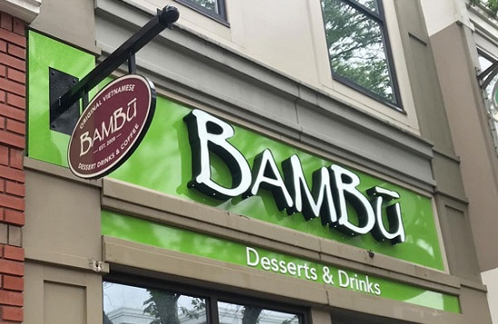 Bambu Building Signs for Storefront in Edmonton, AB